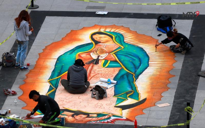 Embellece Virgen de Guadalupe Plaza principal